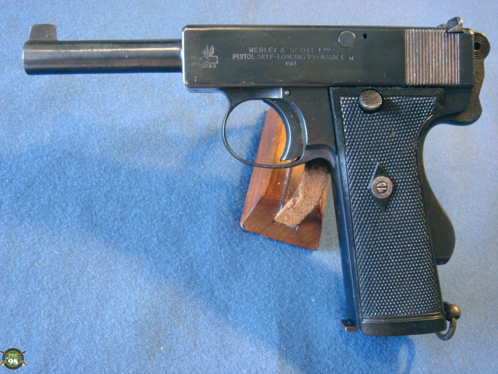 1913 WEBLEY .455 AUTOMATIC PISTOL ROYAL NAVY ISSUE