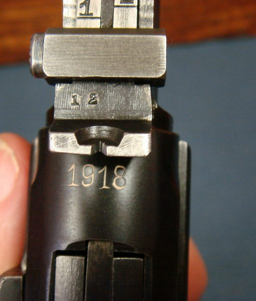 sold SCARCE 1918 DWM LP 08 ARTILLERY LUGER    MINT FULL RIG    MATCHING MAG  AND STOCK! | Pre98
