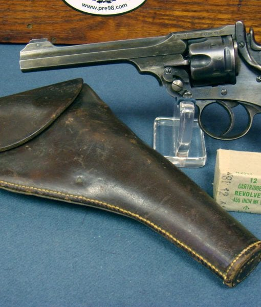 SOLD BRITISH WWI  455 WEBLEY MARK VI SERVICE REVOLVER        1917  dated         WITH HOLSTER AND AMMO      NOT EXPORT MARKED!   Pre98