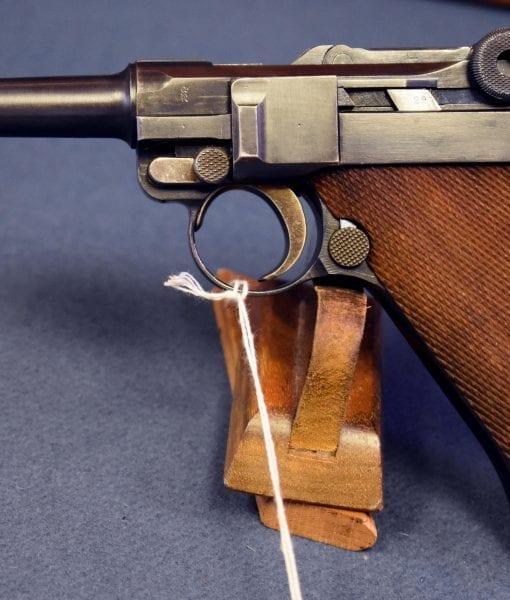 "SCARCE DWM 1921 ""SAFE & LOADED"" COMMERCIAL 7.65 LUGER"
