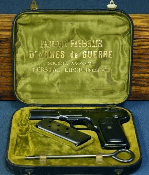 VERY EARLY FACTORY CASED FN MODEL 1899 PISTOL