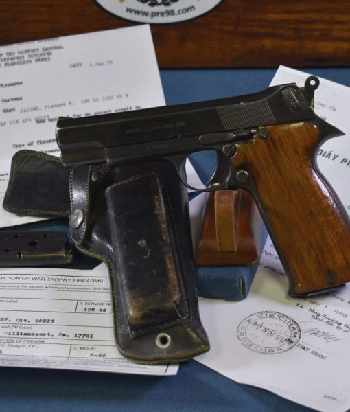 DOCUMENTED VIETNAM WAR TROPHY CAMBODIAN M66 PISTOL
