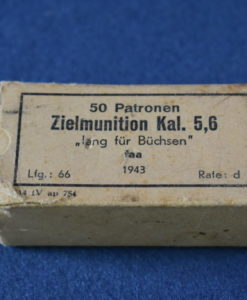 GERMAN WW2 .22LR MILITARY TRAINING AMMUNITION