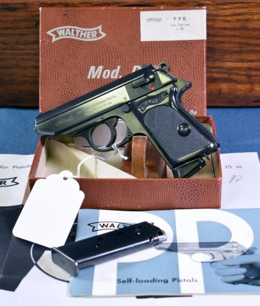 Sold - 1968 WALTHER PPK LIKE NEW IN BOX …… 7 65mm/ 32 auto