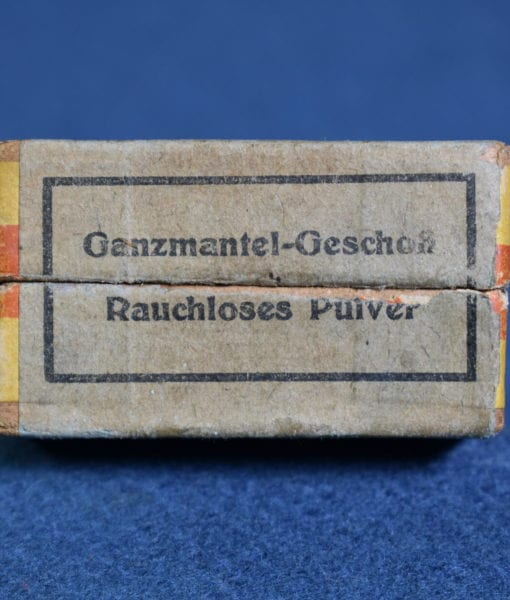 SOLD EXTREMELY RARE FULL BOX OF 1930'S PRE WW2 GERMAN GECO 7 65 ( 32 AUTO)  AMMUNITION      IMPOSSIBLE TO FIND!!! | Pre98