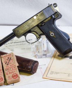 1913 WEBLEY & SCOTT SELF LOADING .455 MARK I PISTOL